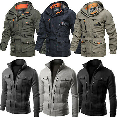 Mens Waterproof Winter Jackets Outdoor Tactical Coat Soft Shell Military Jackets