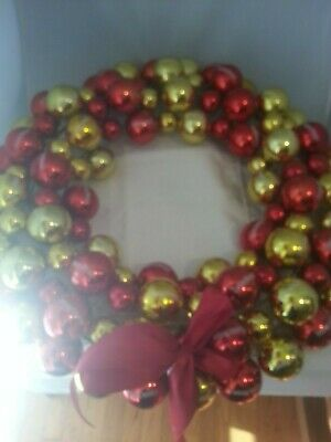 Captain Morgan Rum~Red and Gold Christmas Wreath~Advertising Promo RARE