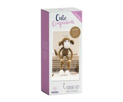 Crafter's Companion Cute Companions - Monty the Monkey Crochet Kit Activity Toy