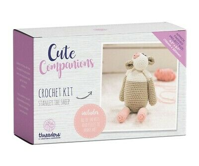 Crafter's Companion Cute Companions - Stanley the Sheep Crochet Kit Activity Toy