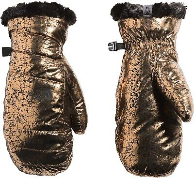 New The North Face Women's Mossbud Swirl Mittens Size S Metallic MSRP $35.00