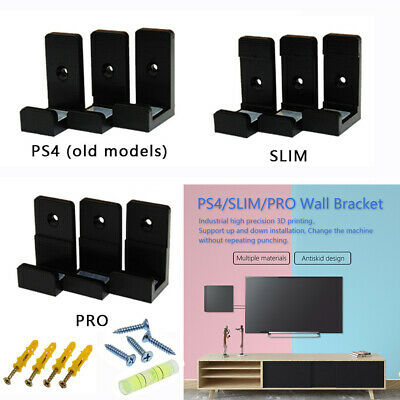 For PlayStation 4 PS4 Slim Pro Game Console Wall Mount Set Wall Bracket Holder