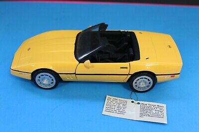 Franklin Mint 1986 Corvette Convertible (yellow)  no box ex cond.