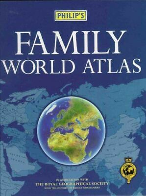 Royal Geographical Society, The, Philip's Family World Atlas, Very Good, Hardcov