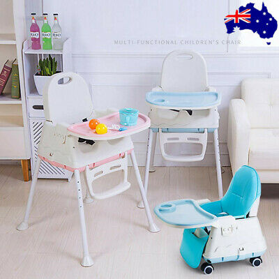 3 in 1 Adjustable Portable Baby Highchair Kids Toddler Eating Chair Feeding Seat