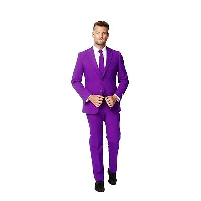 Opposuits 44 Purple Prince Formal Novelty 3-piece Suit Jacket Pants Tie Holiday