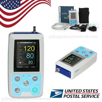USA portable Ambulatory Blood Pressure Monitor+Software 24h NIBP Holter ABPM50