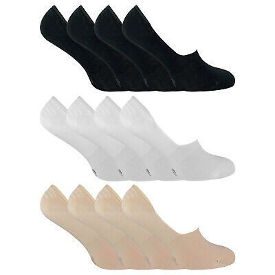 SOCK SNOB - 4 Pairs Bamboo No Show Invisible Low Cut Liner Socks for Men & Women