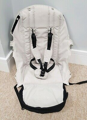 Baby Jogger City Select replacement seat fabric diamond white w/ straps 001