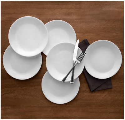 Corelle Classic Winter Frost White Dinner Plates Set (8.5 In, 6-Piece) BRAND NEW
