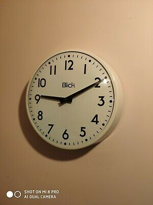 Huge Vintage Retro Original 1960s Factory Clock Blick Industrial Interior Design