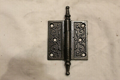 "3"" x 3""  Steeple Tipped Antique Victorian  cast Iron Hinge with Smooth Hinge"