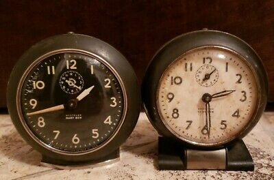 (2) Vintage Westclox / Baby Ben Alarm Clocks / Parts - Repair