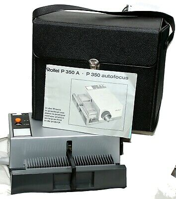 Rollei P350A 35m Fully autoSlide Projector mint cond,with book and case,new Lamp