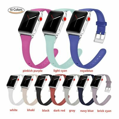 Silicon Watchband WristBand Strap for Apple Watch iWatch 1 2 3 4 38/40/42/44mm