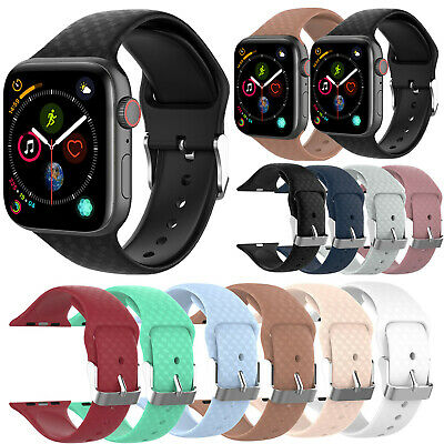 Water-proof Sport Silicone Band Strap for Apple Watch iWatch 1 2 3 4 38mm/42mm