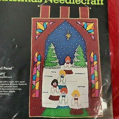 Sultana Christmas Silent Night Needlecraft #32121 Jeweled Panel Sealed Complete