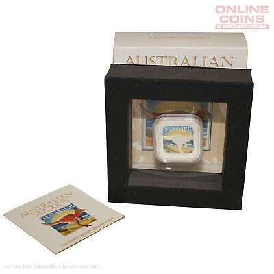 2013 Perth Mint Australian Seasons - Summer 1oz Silver Proof Square Coin