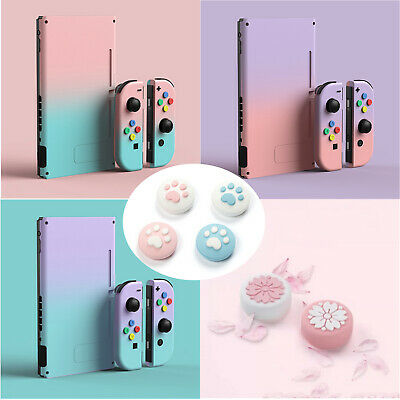 Gradient Color Game Console Protect Full Cover Case Rocker Caps for NS Joy-Con