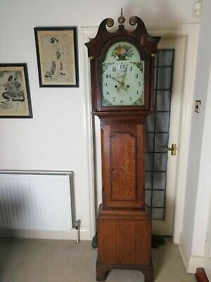 Bothamley Boston Longcase Grandfather Clock Lincolnshire Oak Case 1820