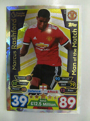 Marcus Rashford - Man. Utd. (Match Attax Premiership 2017/18) Man of the Match