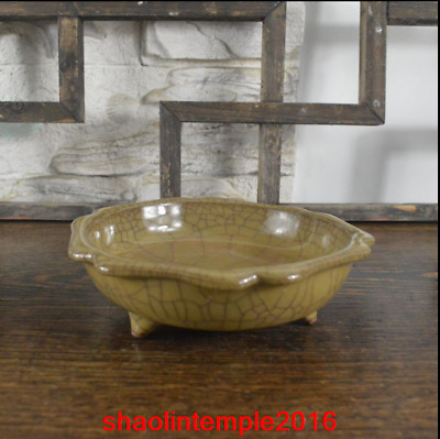 China Song dynasty Offcial kiln Yellow glaze flower shape Ancient porcelain