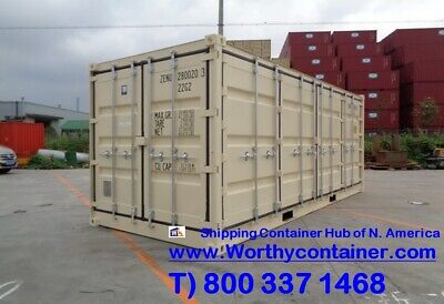 Open Side (OS) - 20' New / One Trip Shipping Container in Montreal, QC, Canada