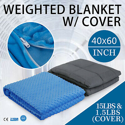 Weighted Blanket With Removable Cover 6.8KG Cotton Glass Beads Relieve Anxiety