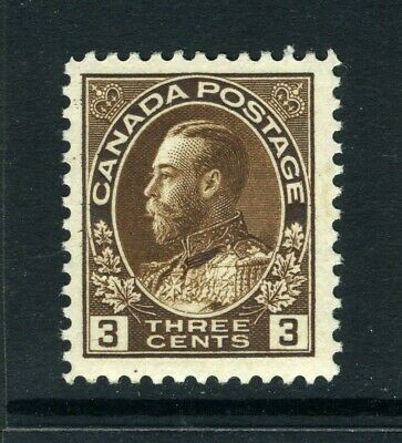 CANADA Scott 108 - XXLH - 3¢ Brown King George V Admiral (.023)