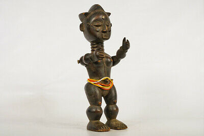 """Attie Statue with Articulated Arms 18"""" - Ivory Coast - African Art"""