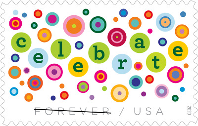 5434 Lets Celebrate Single Stamp Mint/nh FREE SHIPPING