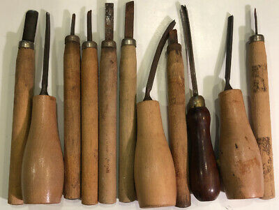 Wood Leather Carving Tool Assortment Different Brands. 11 Pieces