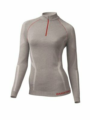 New BMW Thermal Functional Shirt Women's Large Light Grey/Red #76248395386