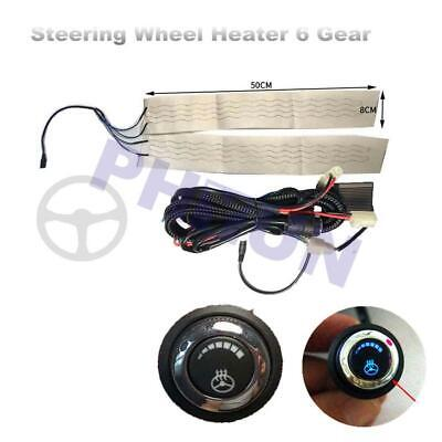 Universal Car Steering Wheel Heater Pad Heated Liner Warmer w/ LED Switch 12V 1x