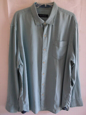 Tommy Bahama Dobby Dylan Alpine Green Mens Button up L//S Shirt NWT $125 L-2XB