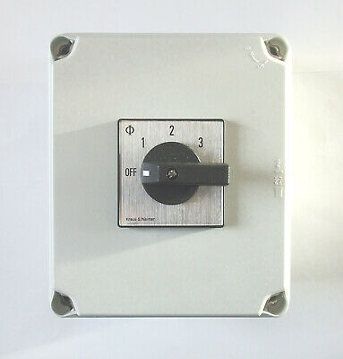 PSSBOX16 Mains power selector switch box 16amp