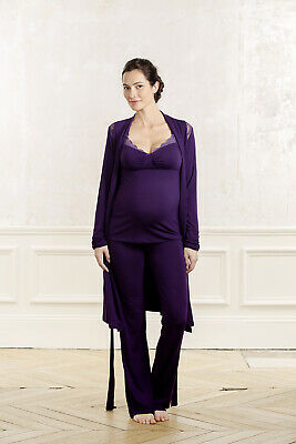 Maternity and Nursing Dressing Gown - Purple
