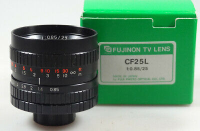 RARE lens c mount FUJINON F: 0,85 de 25mm  Mint   ANGENIEUX beautiful