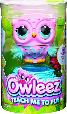 Owleez 6053359 Flying Baby Owl Interactive Toy With Lights And Sounds Pink