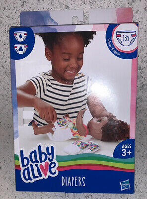 New Baby Alive Diapers , Includes 18 Diapers , Ages 3+ , Hasbro ,