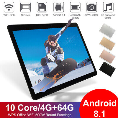 """10.1"""" Android 9.0 10Core Tablet 8 256GB IPS Bluetooth WiFi Tablet Dual Camera AU"""