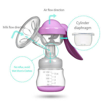 Manual Massage Breast Pump Powerful Suction Nature Baby Sucking Pregnant Women