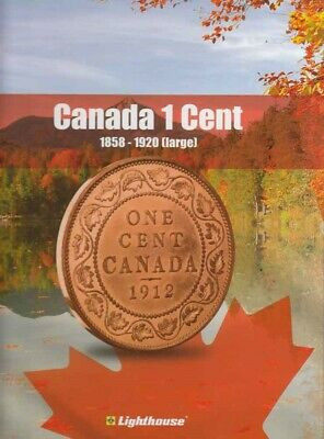 New Album For Collection Of Canada Large 1 Cent Coins 1858-1920 Lighthouse Vista