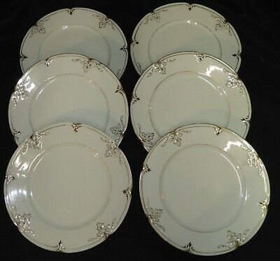 P] PORCELAINE DE PARIS XIXè OLd french porcelain * x6 assiettes 22 cm * (lot n°1