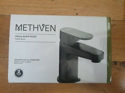 Methven Albany Mono Basin Tap with Waste - Black
