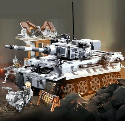 WWII German Panzer Tiger Tank ruin soldier World War 2 II moc WW2 blocks Germany