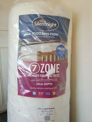 silentnight kingsize 3 zone now memory foam mattress brand new rolled quilted