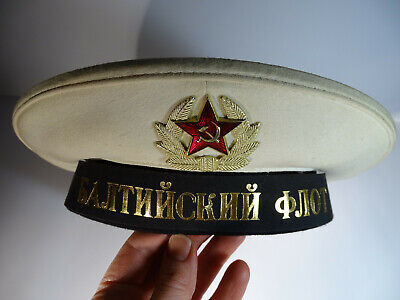 Russian Army Peakless cap Sailor Naval Fleet Soviet Badge USSR Red Star Military