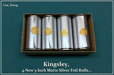 "3 Roll pk Kingsley Howard Hot Stamping Machine Foil 3/"" x 95/' 70 Colors"