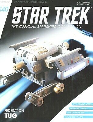 Star Trek Official Starship Collection Number 140 -Federation Tug - Brand New